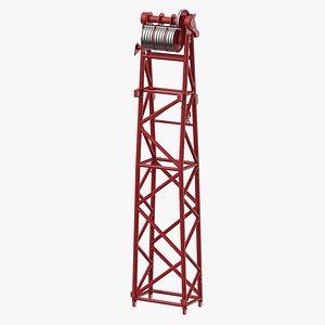 3D crane wa frame 1 model