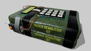 explosive device 3D