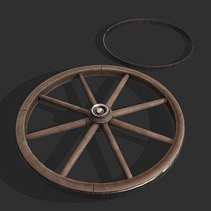 style wagon wheel 3D