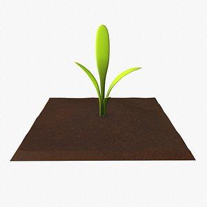 3D Cartoon Vegetable Plot