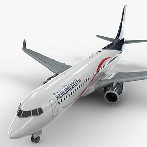 boeing 737-8 aeromexico 3D model