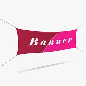 3D hanging banner