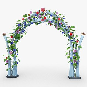 3D Wedding Flowering Arch