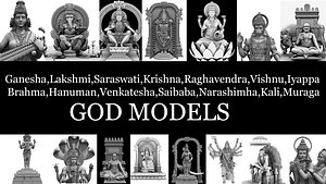 3D gods collection 3d models model
