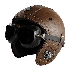 3D leather moto