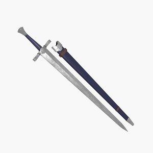 3D Medieval Short Sword model