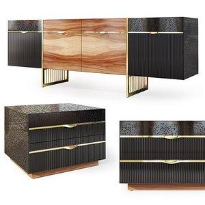 drawers sideboard 3D model