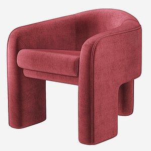 3D model kagan sculptural chair weiman