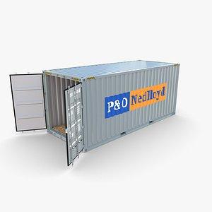 3D 20ft Shipping Container PO Nedlloyd v1 model