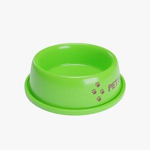 Pet Bowl Green 3D