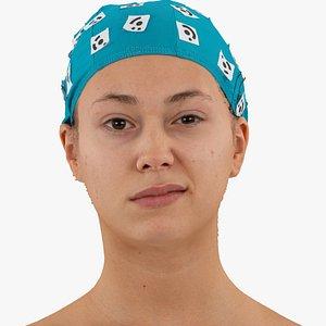 3D head human raw model