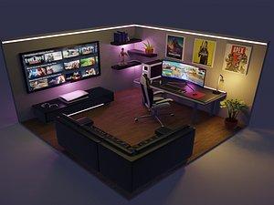 3D cuarto gamer