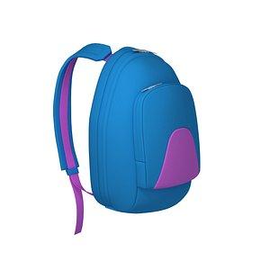 3D Backpack cartoon model