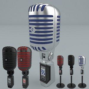 Shure Super 55  Microphone 3D