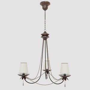 chandelier classic old 3D model