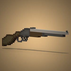 Voxel Winchester 3D model