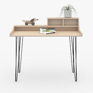 3D Desk in home D9 model