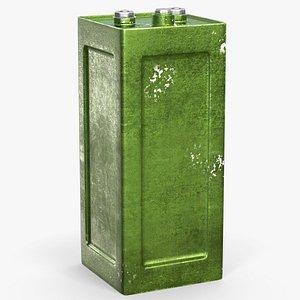 3D model battery accumulator army