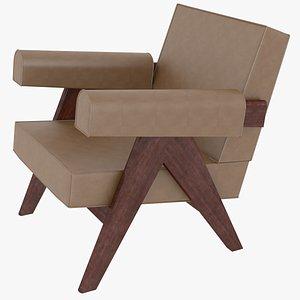 3D capitol complex armchair jeanneret