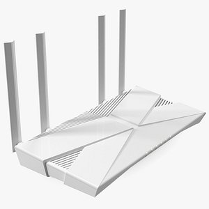 3D wifi 6 router model