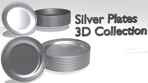 plates silver 3D