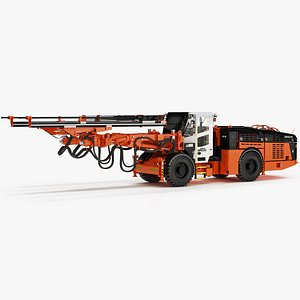 Sandvik DD422iE Underground Drill Rigs 3D