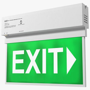 emergency exit light 3D