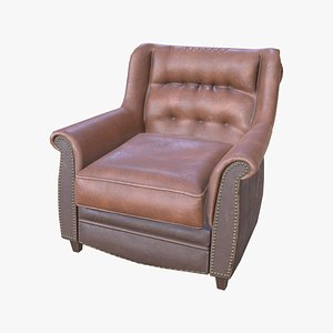 3D single seater sofa - model