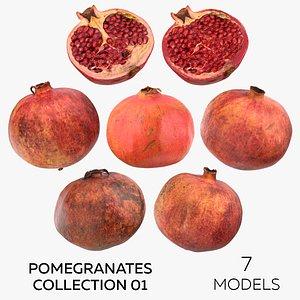 3D Pomegranates Collection 01 - 7 models model