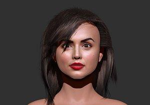 ana de armas 3d zbrush sculpting 3D