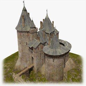 Castle Coch-The red castle 3D