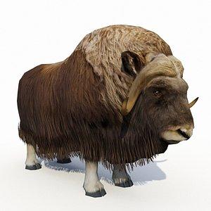 3D model moose deer