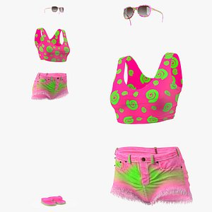 3D Beach Outfits Set