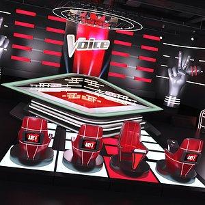 3D The Voice Tv Studio model