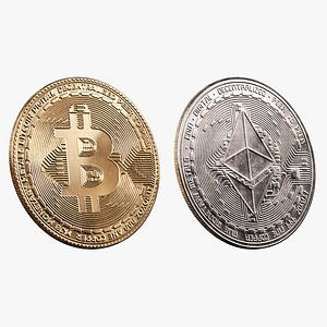 Bitcoin and Ethereum 3D model