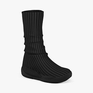 3D model women boots cr 03