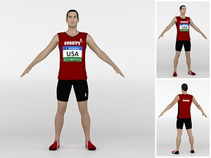 Athlete Runner 03 3D