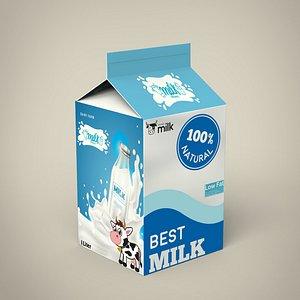 3D Milk Carton model
