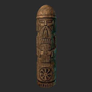 3D Dazhbog Wooden Figurine model