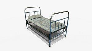 3D Prison Bed PBR model