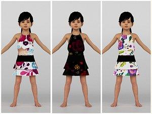 3D model Cute Girl