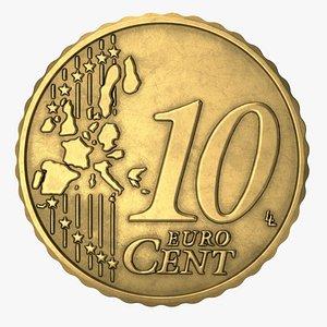 3D euro cent eur model