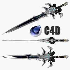 3D frostmorn sword