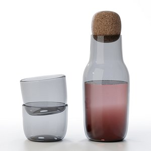 corky carafe glass 3D model