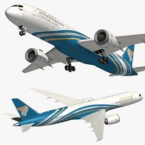 boeing 787 oman 3D model