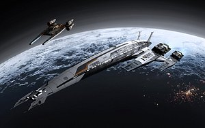 3D Normandy N7 - Mass Effect - print and rendering model