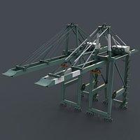 PBR Quayside Container Crane V2 - Green Light