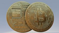 bitcoin tocken coin with 8k pbr textures