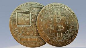 3D model bitcoin 8k pbr