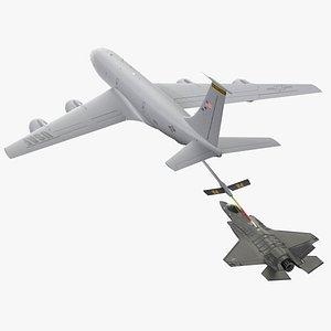 3D model boeing kc 135 stratotanker
